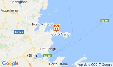 Map Aranci Gulf Apartment 108847