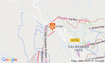 Map Valmeinier Self-catering property 117285