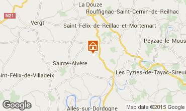 Map Sarlat Self-catering property 68374