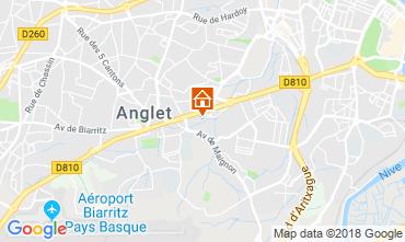 Map Anglet Studio apartment 15504