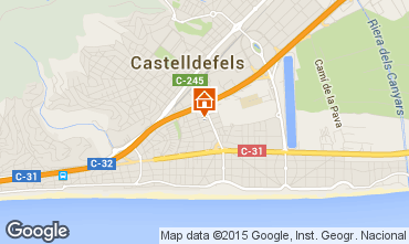 Map Casteldefels Apartment 59696
