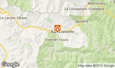 Map Barcelonnette Studio apartment 57041