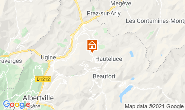 Map Les Saisies Studio apartment 2694