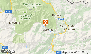 Map Auronzo di Cadore Apartment 67023