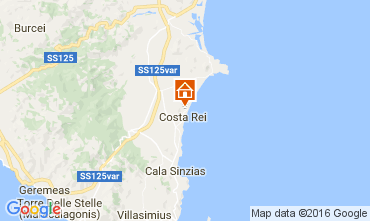 Map Costa Rei Apartment 68890