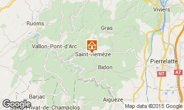Map Vallon-Pont-D'Arc Mobile home 23563