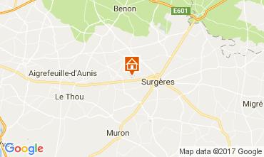 Map La Rochelle Self-catering property 108213