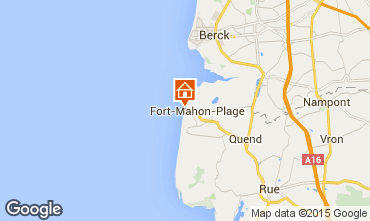 Map Fort Mahon Studio apartment 67419