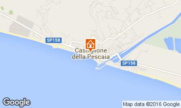 Map Castiglione della Pescaia Apartment 103015