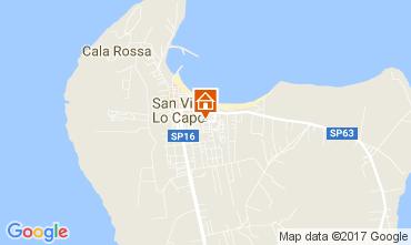 Map San Vito lo Capo Apartment 110157