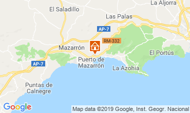 Map Puerto de Mazarrón Apartment 113039