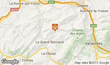 Map Le Grand Bornand Apartment 1370