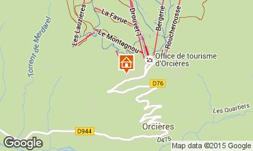 Map Orcières Merlette Apartment 75311