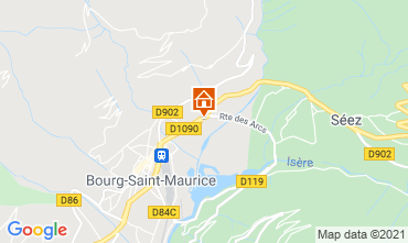 Map Les Arcs Studio apartment 129