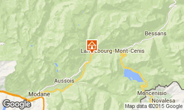 Map Termignon la Vanoise Apartment 44928