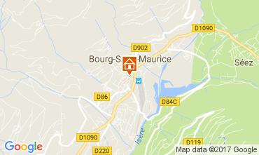 Map Bourg saint Maurice Studio apartment 111638