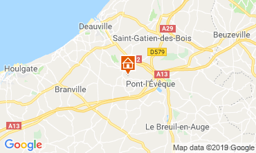 Map Deauville B&B 118008