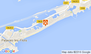Map Palavas-les-Flots Flat 104406