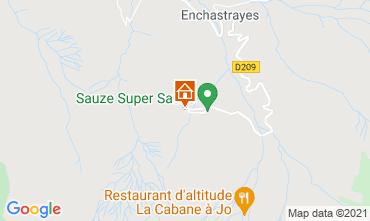 Map Le Sauze Studio apartment 79508