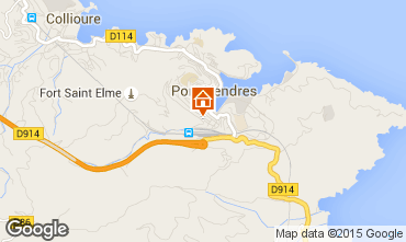 Map Collioure Studio apartment 94422