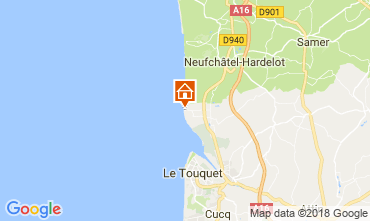 Map Le Touquet Apartment 107941