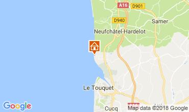 Map Le Touquet Apartment 107941