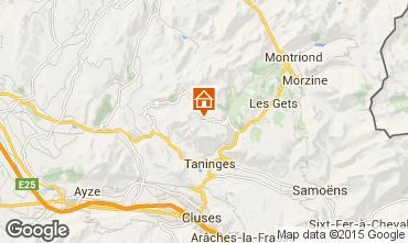 Map Praz de Lys Sommand Chalet 66149