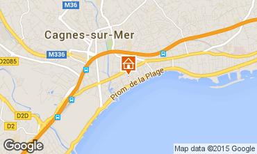Map Cagnes sur Mer Studio apartment 97503