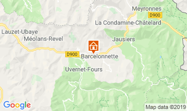 Map Barcelonnette Apartment 4866
