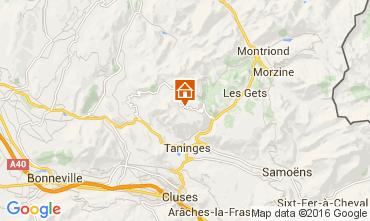 Map Praz de Lys Sommand Chalet 104272