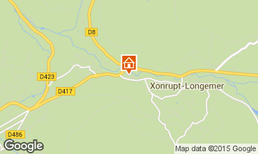 Map Gérardmer Chalet 60405