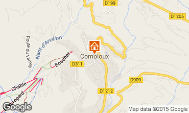 Map Combloux Apartment 91002