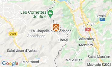 Map La Chapelle d'Abondance Chalet 600