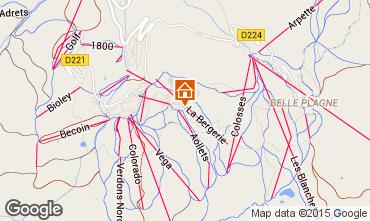 Map La Plagne Apartment 58322