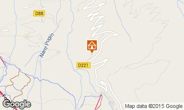 Map La Plagne Chalet 2182