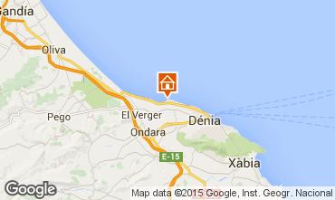 Map Denia Apartment 94437