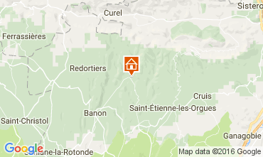 Map Forcalquier Self-catering property 106828