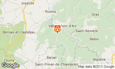 Map Vallon-Pont-D'Arc Villa 23758