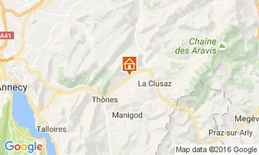 Map La Clusaz Self-catering property 106436