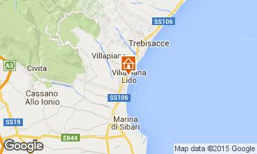 Map Villapiana Apartment 71359