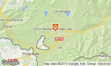 Map Font Romeu Apartment 91444