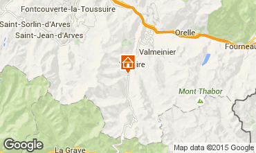 Map Valloire Apartment 3418