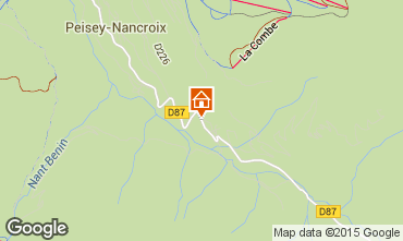 Map Peisey-Vallandry Chalet 50116