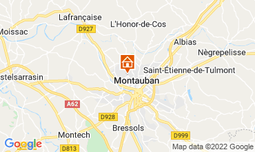 Map Montauban Self-catering property 73584