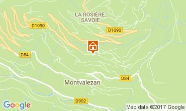 Map La Rosière 1850 Apartment 81095