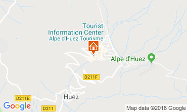 Map Alpe d'Huez Studio apartment 66809