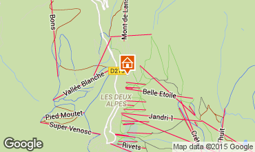 Map Les 2 Alpes Chalet 91812