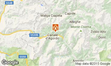 Map Falcade Apartment 66852
