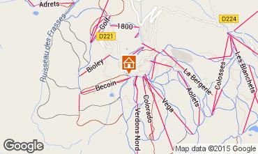 Map La Plagne Apartment 49643
