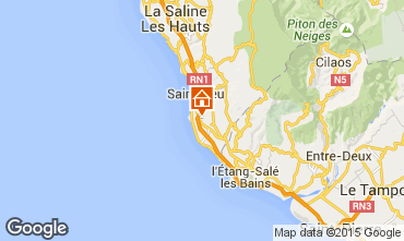 Map Saint Leu Studio apartment 9985